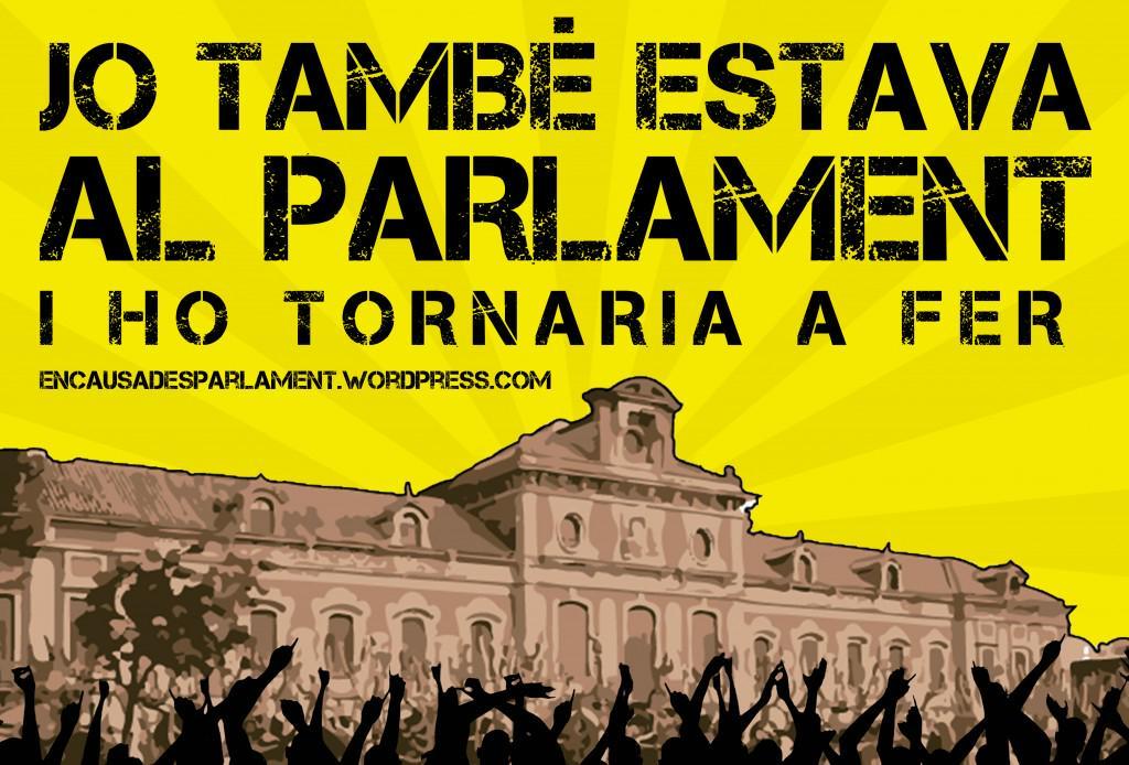 Manifestaci suport encausades parlament fesibac catalunya for Conveni col lectiu d oficines i despatxos