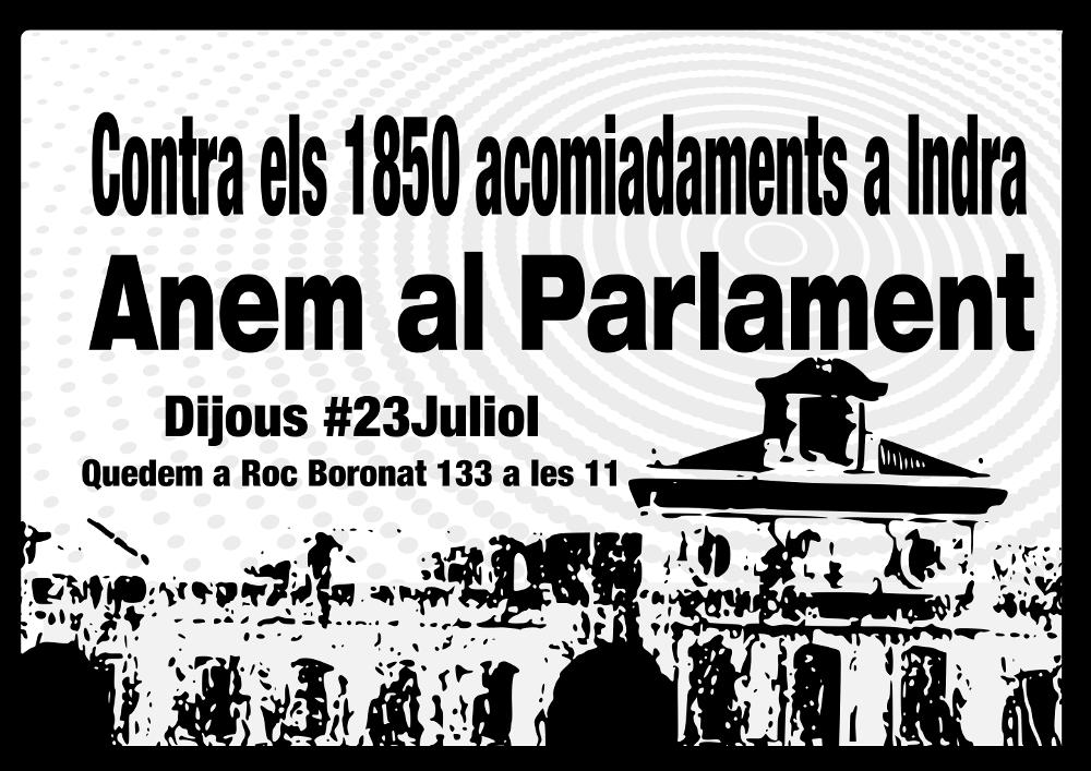 Marxa al parlament contra els acomiadaments a indra for Conveni col lectiu d oficines i despatxos